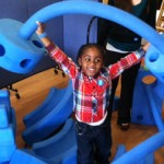 A child plays with our Imagination Playground