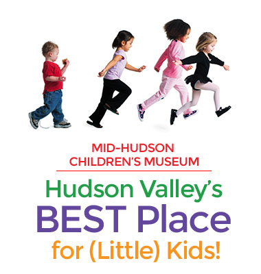 Children running with text: Hudson Valley's Best Place for (Little) Kids!
