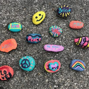 hand-painted peace rocks